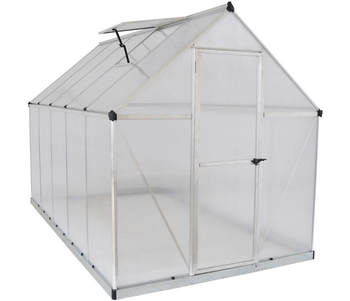 palram 6x10 mythos hobby greenhouse silver - Palram Greenhouse