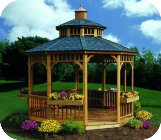 Handy Home 12ft San Marino Gazebo with Floor Kit - Package