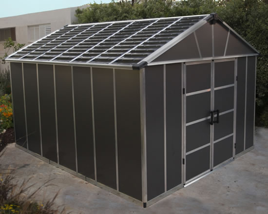 Palram Yukon 11x13 Shed Outdoor View