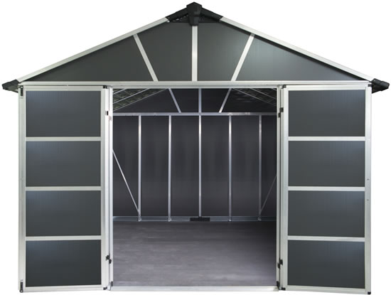 Palram Yukon 11x12 Shed Inside View