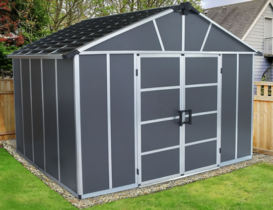 Palram Yukon 11x9 Shed Outdoor View