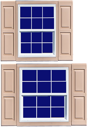 Four insulated windows with screens included!