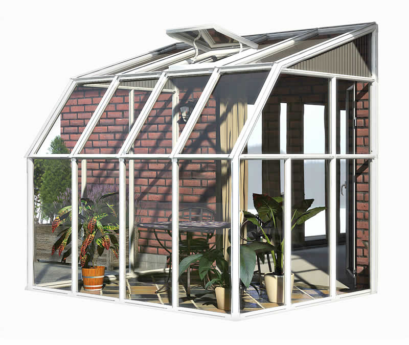 Rion 6x8 Sun Room 2 Greenhouse Kit - White