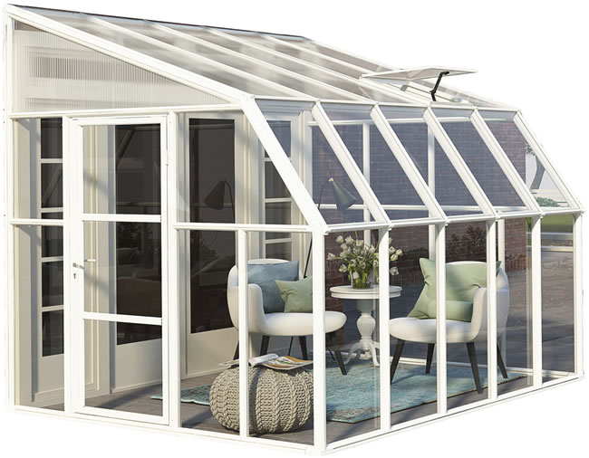 Rion 8x10 Sun Room 2 Greenhouse Kit - White