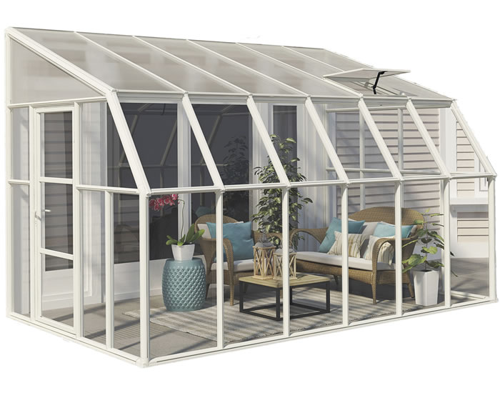 Rion 8x12 Sun Room 2 Greenhouse Kit - White