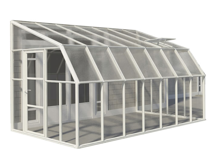 Rion 8x14 Sun Room 2 Greenhouse Kit - White