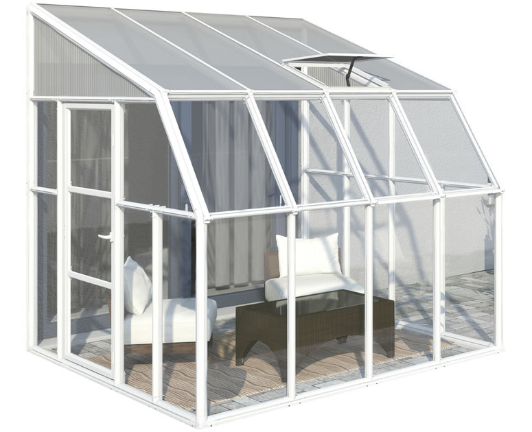 Rion 8x8 Sun Room 2 Greenhouse Kit - White