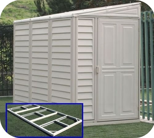 SideMate 4x8 Vinyl Shed w/ Floor Kit