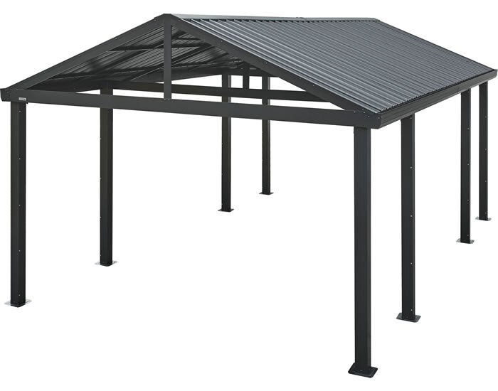 Sojag Samara 12x20x7 Metal Carport Kit - Gray