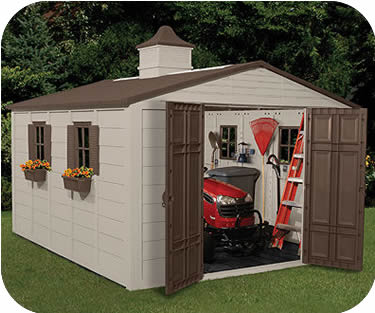 Resin Storage Sheds 10x12 Motorcycle Storage Container