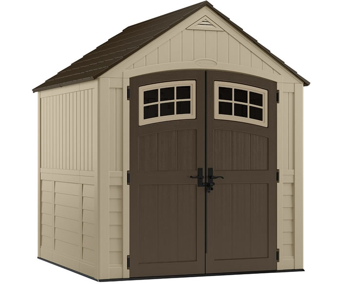 Suncast 7x7 Sutton Resin Shed Kit w/ Floor