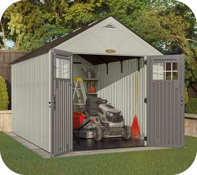 Suncast 8x13 Tremont Resin Storage Shed Kit w/ Floor