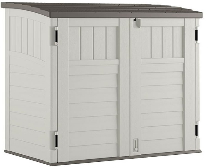 Suncast 4x3 Horizontal Trash Can Shed Kit w/ Floor