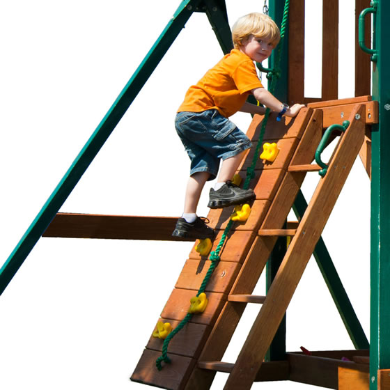 Explore 3 Ways To Access The Clubhouse! Rock Wall, Ladder and Climbing Rope!