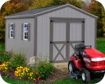Elm 10x12 Wood Storage Shed Kit - ALL Pre-Cut