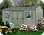 Cypress 16x10 Wood Storage Shed Kit - ALL Pre-Cut
