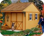 Northwood 10x10 Wood Storage Shed Kit - ALL Pre-Cut