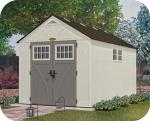 Suncast 8x13 Tremont Resin Shed w/ Floor & 2 Windows