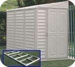 SideMate 4x8 Vinyl Shed w/ Foundation Kit