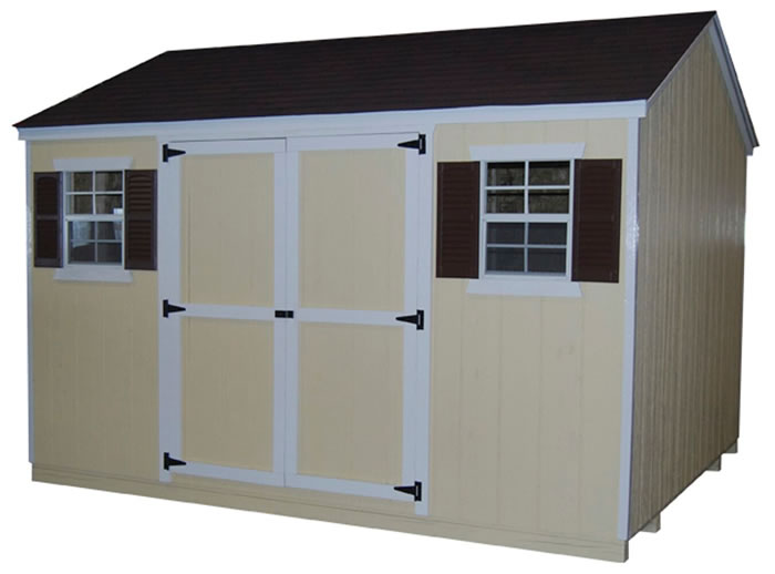 Little Cottage Co Pre-Cut 8x8 Value Workshop Shed Kit
