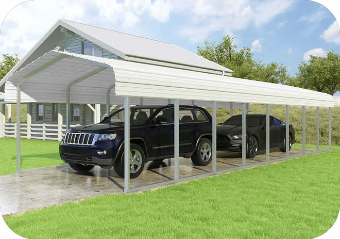 VersaTube 12x38x7 Classic Steel Carport Kit