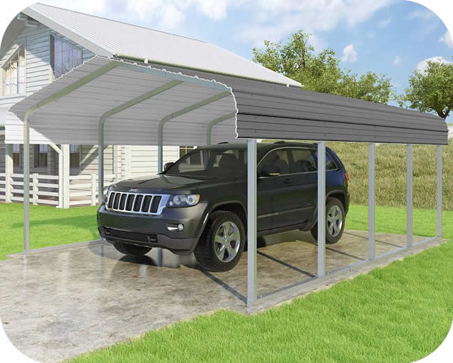 VersaTube 14x20x7 Classic Steel Carport Kit