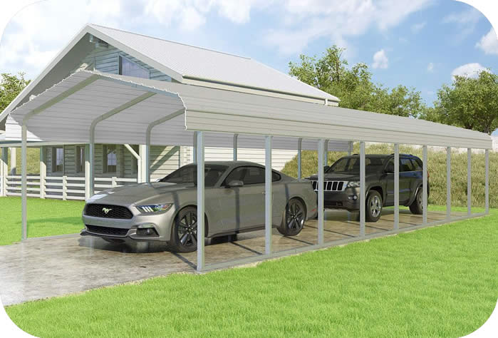 VersaTube 14x38x7 Classic Steel Carport Kit