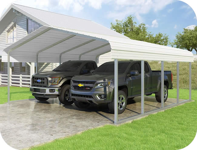 VersaTube 18x20x7 Classic Steel Carport Kit