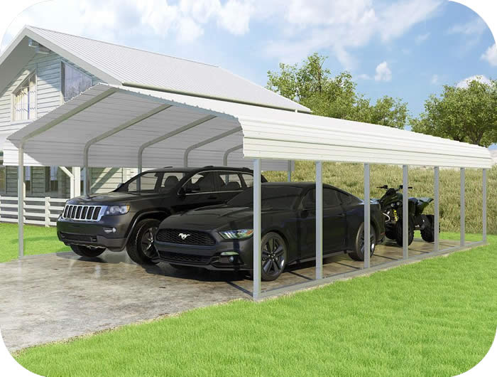 VersaTube 18x29x7 Classic Steel Carport Kit