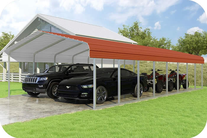 VersaTube 18x38x7 Classic Steel Carport Kit