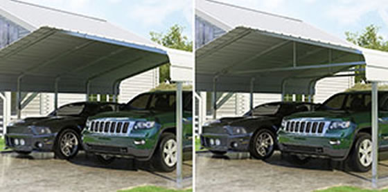 Versatube Carport Optional Truss Bracing Available
