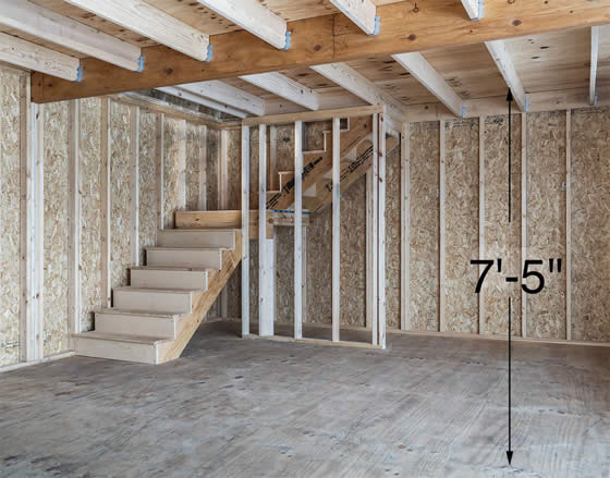 L Shaped Stairs to 2nd Floor Loft Included