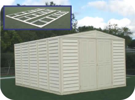 WoodBridge 10x13 Vinyl Shed w/ Foundation Kit