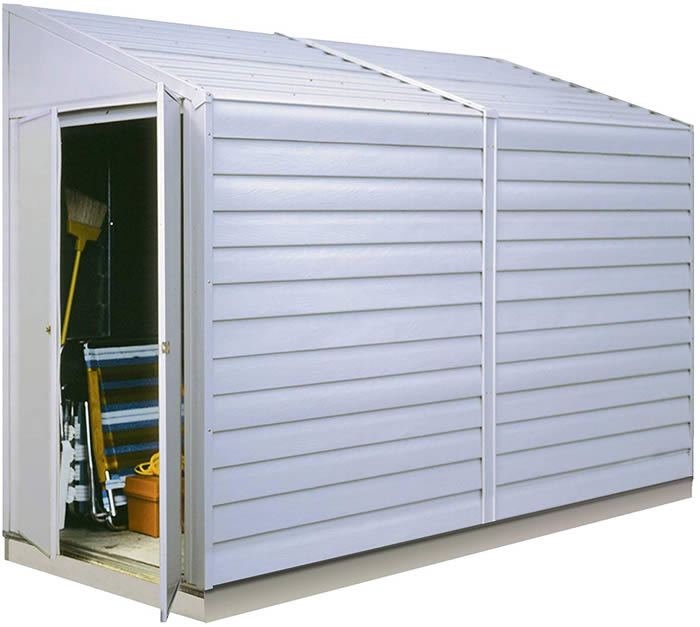 Leisure Garbage Can Storage Shed Trash Recycling Center