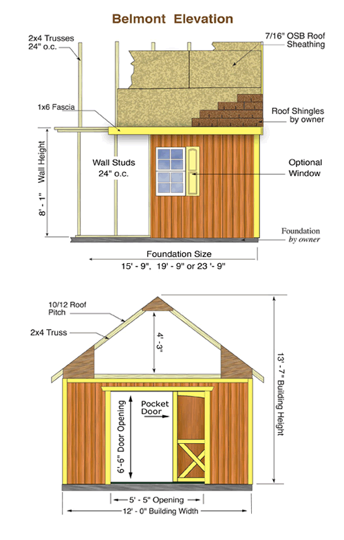 Belmont Wood Storage Shed Measurements
