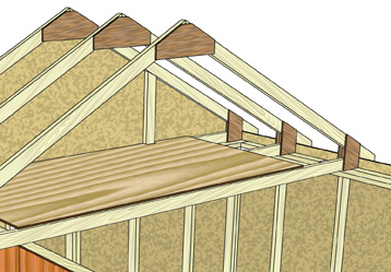 Small Storage Buildings 10x10 Shed With Loft Plans