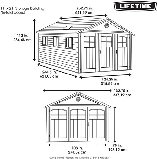 Lifetime 11x21 Plastic Storage Building
