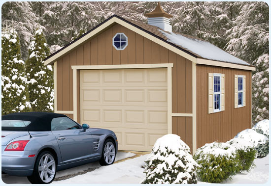12x20 Sierra Garage Shed Kit Outdoor Photo