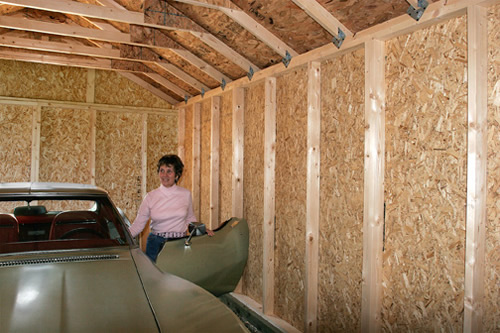12x24 Sierra Wood Shed Interior Photo