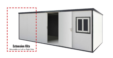 Add 6.6 ft Wide Extensions for the size you need!
