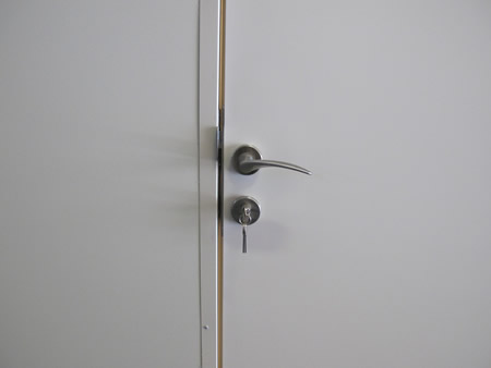 High grade door lock keeps stored items secure!