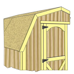 Storage Shed Kit Doors and Trim